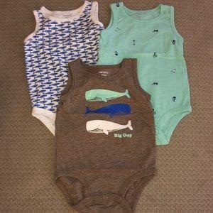 Carters 12 months sleeveless onesies -